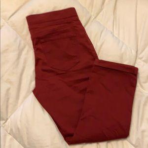 No Boundaries Pants & Jumpsuits - Maroon capris